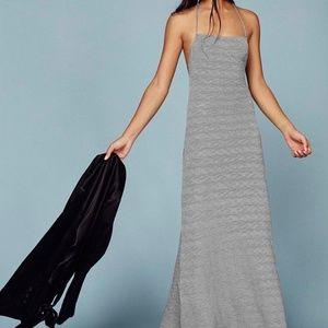 Reformation Gray Slayer Maxi Halter Dress Size XL